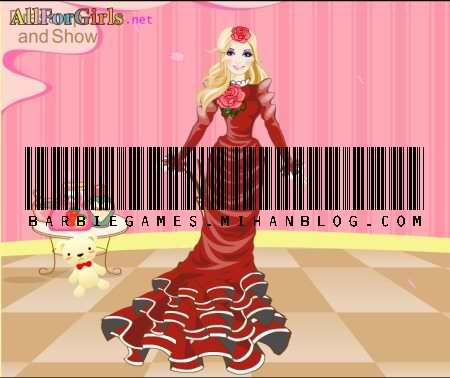 بازی باربی طراحی لباس